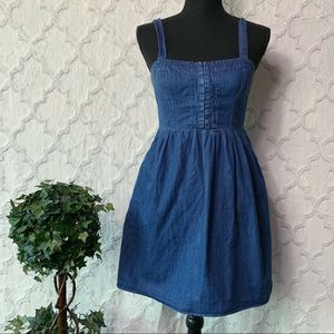 Mossimo Denim Jean Overall Dress